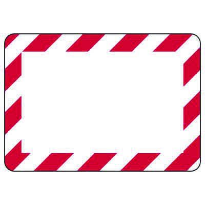 Blank White/Red Bordered Write-On - Custom Write-On Signs