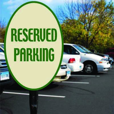 Reserved Parking Signs - Vertical Oval