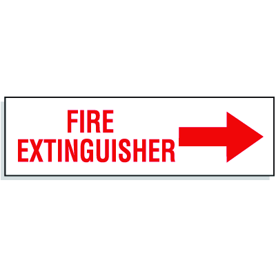 Fire Extingusiher with Right Facing Arrow - Directional Signs