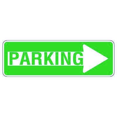 Directional Traffic Signs - Right Arrow Parking