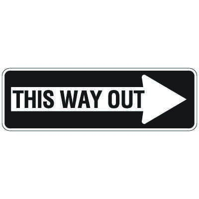 Directional Traffic Signs - This Way Out (Right Arrow)
