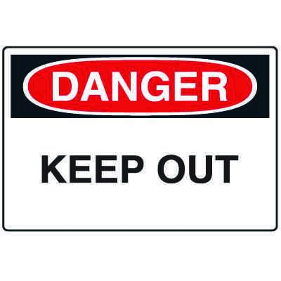 Disposable Plastic Corrugated Signs - Danger Keep Out