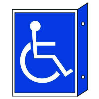 Handicap Sign - Double Faced