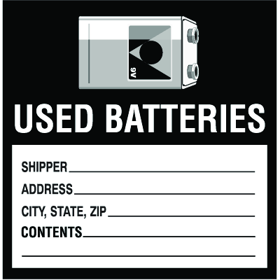Drum Identification Labels - Used Batteries
