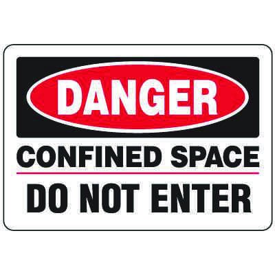 Eco-Friendly Signs - Danger Confined Space Do Not Enter