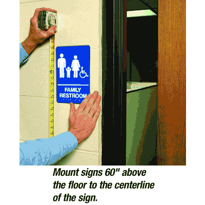 Family Restroom/Accessibility - Economy Braille Signs