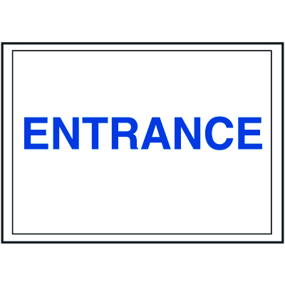 Economy Front Office Signs - Entrance