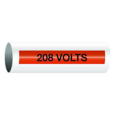 208 Volts - Self-Adhesive Electrical Markers