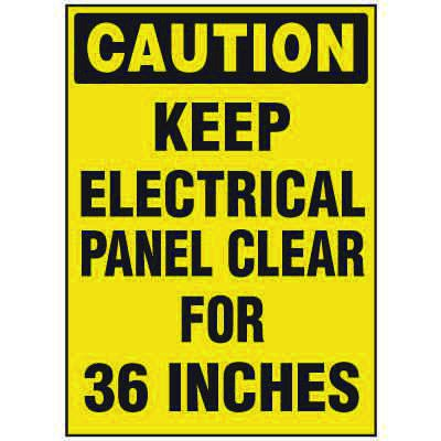 Electrical Safety Labels On-A-Roll - Caution Electrical Panel