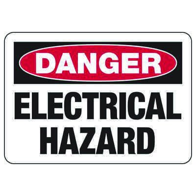 Danger Electrical Hazard - Electrical Safety Signs