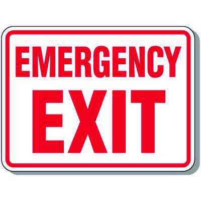 Emergency Exit - Emergency Exit Signs