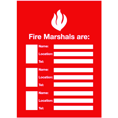 Fire Marshals Emergency Frame With Photo Inserts