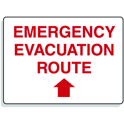 Emergency Signs- Evacuation Route Arrow Straight