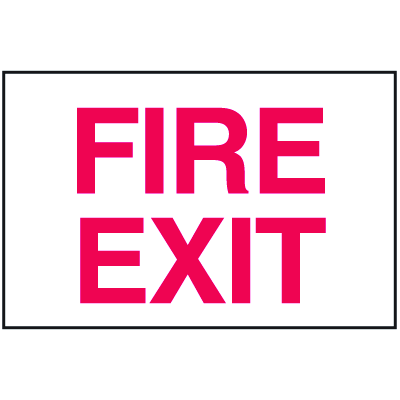 Fire Exit Sign - Polished Plastic Sign