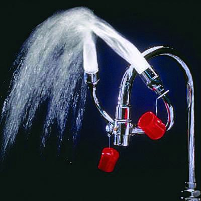 Faucet-Mounted Eye Wash and Face Wash