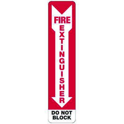 Fire Extinguisher Do Not Block (Arrow) - Industrial Fire Signs