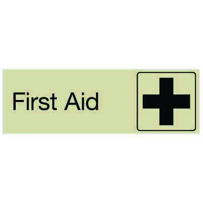 First Aid - Engraved Graphic Room Signs