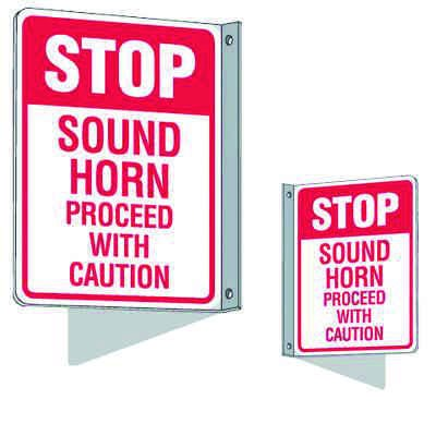 Flanged Traffic Signs - Stop Sound Horn