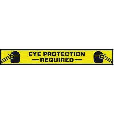 Eye Protection Required - Floor Marking Strips