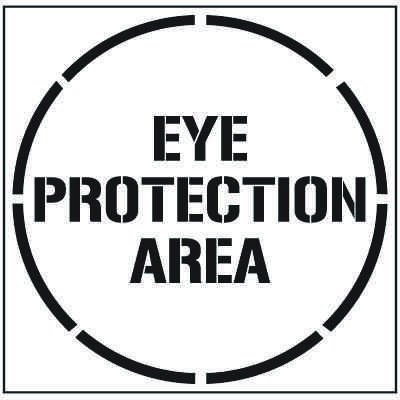 Large Floor Stencil - Eye Protection Area