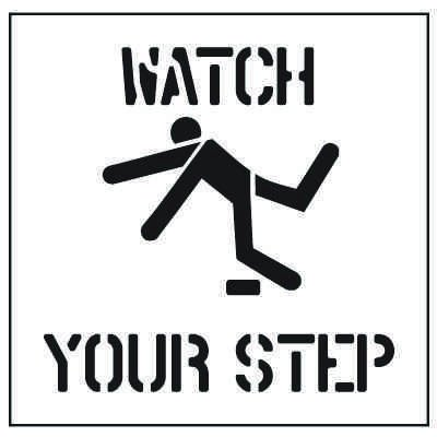Large Floor Stencils - Watch Your Step