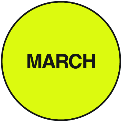 Fluorescent March Dot Labels