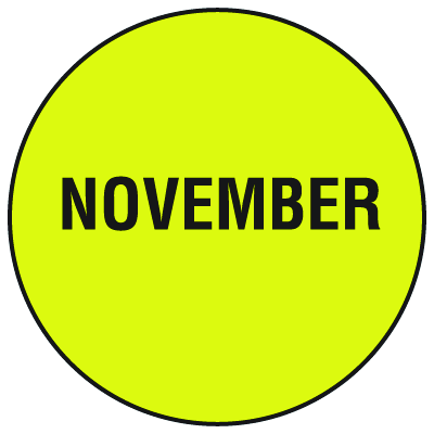 Fluorescent November Dot Labels