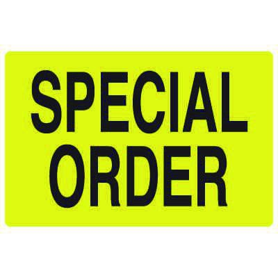 Fluorescent Warehouse & Pallet Labels - Special Order