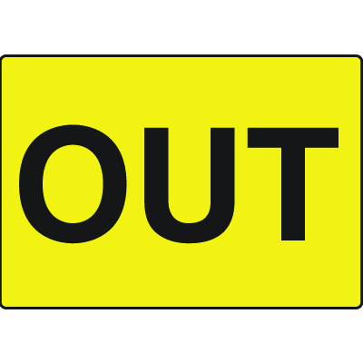 Out Gate Directional Signs