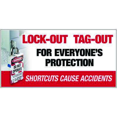 Giant Motivational Wall Graphics - Lock-Out Tag-Out