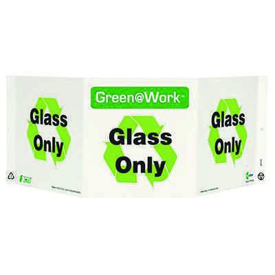 Glass Only Tri View Recycling Sign