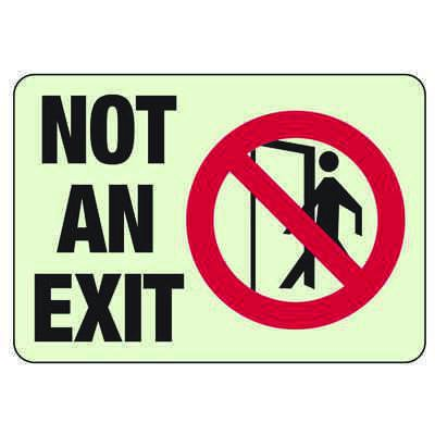 Luminous Exit and Path Marker Signs - Not An Exit