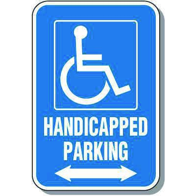 Handicapped Parking Sign (Double Arrow)