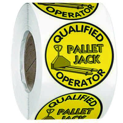 Hard Hat Safety Labels On A Roll - Qualified Pallet Jack