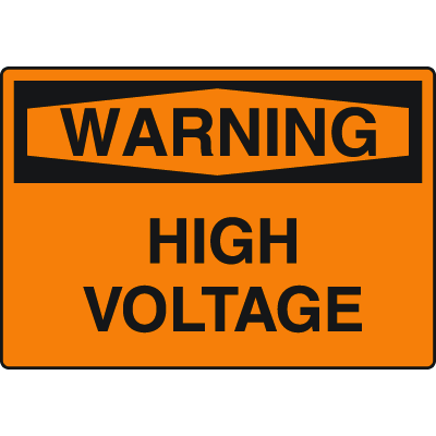 Harsh Condition OSHA Signs - Warning - High Voltage