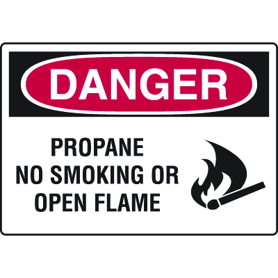 Harsh Condition OSHA Signs - Propane No Smoking Or Open Flame