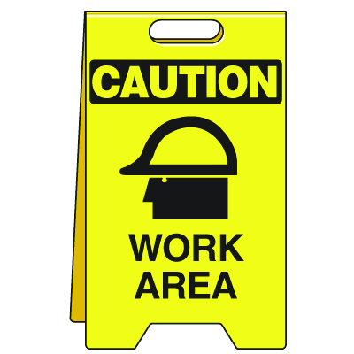 Heavy Duty Floor Stand Signs- Work Area (With Graphic)