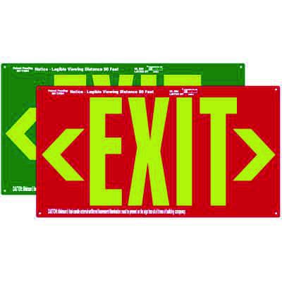 UL924 Photoluminescent Exit Sign With Double Arrows