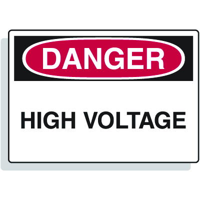 Fiberglass OSHA Signs - Danger - High Voltage