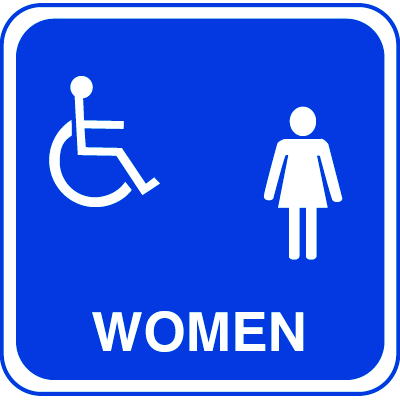 ADA Handicapped Accessible Women's Restroom Signs