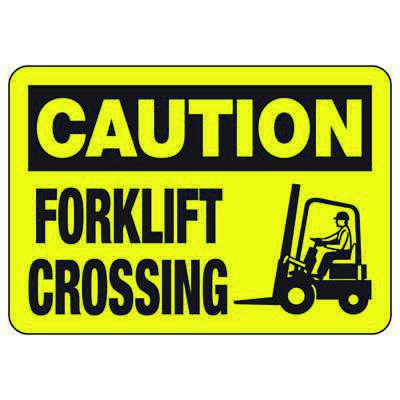 Caution Forklift Crossing (Graphic) - Forklift Signs