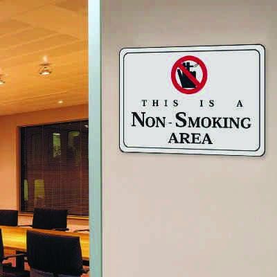 """This Is A Non-Smoking Area - 10""""W x 7""""H Decor Signs"""