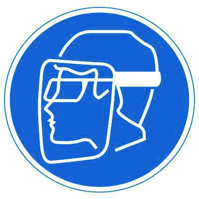 International Symbols Labels - Wear Face Shield & Eye Protection (Graphic)