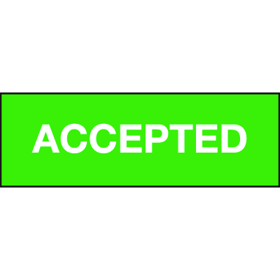 Accepted ISO Status Signs