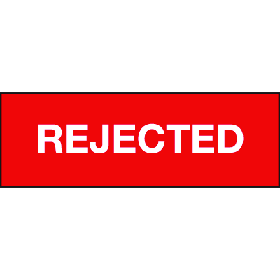 Rejected ISO Status Signs