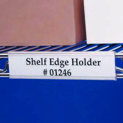 Label Holders For Wire Shelves