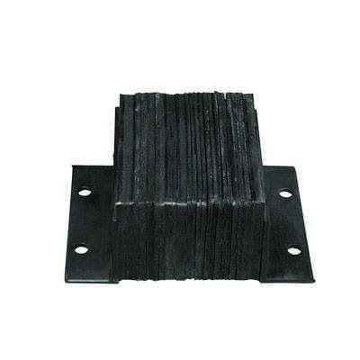 """Laminated Rubber Horizontal Bumpers - 6"""" Projection"""