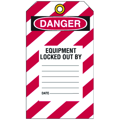 Lockout Tag- This Tag & Lock To Be Removed Only By Person Shown On Back