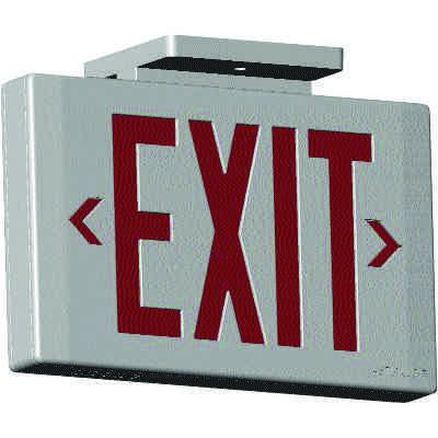 Astralite UL924 Thermoplastic Exit Signs with Dual Pointing Arrows