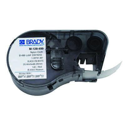 Brady M-128-499 BMP51/BMP41 Label Cartridge - Black on White